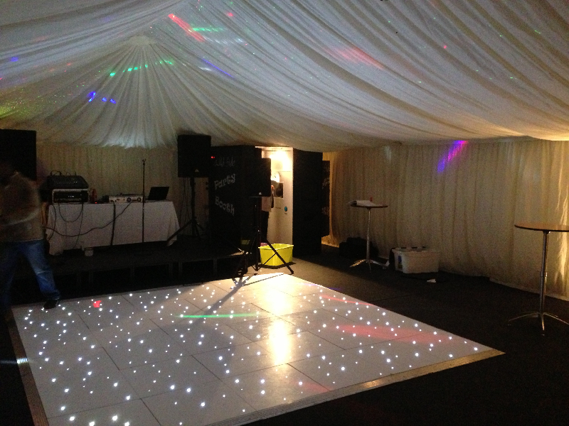 LED Part Dancefloor Marquee Lancashire