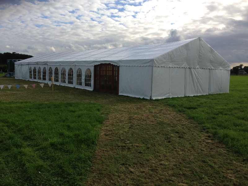 Exterior of Wedding Marquee Cumbria
