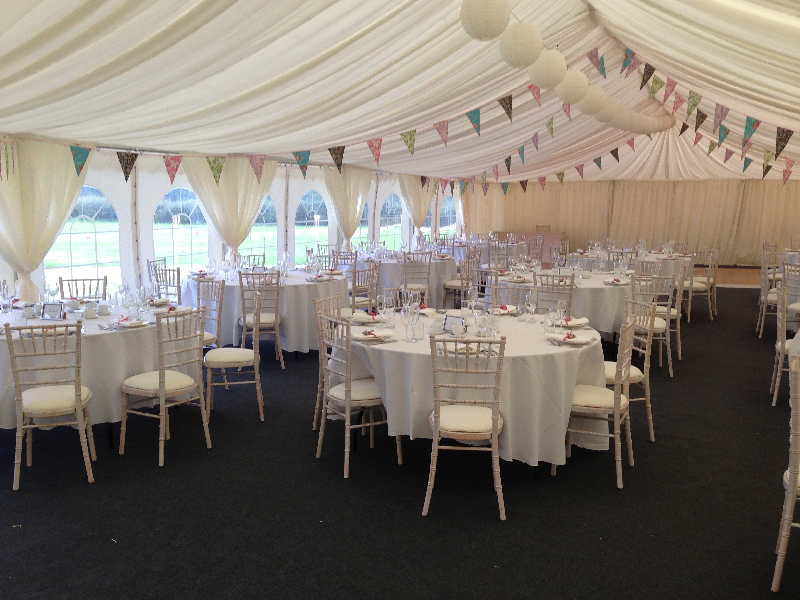 Marquee Interior Wedding Bunting Cumbria